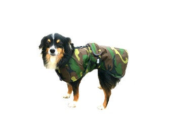 Winter Dog Coat, custom dog coat, dog coat with tummy panel, waterproof dog coat