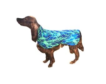 Dog Drying Coat, dog slinkie, dog grooming coat, dog coat protector, spandex dog coat, dog swimsuit