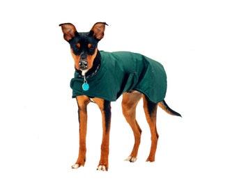 Extreme Winter Dog Coat, custom dog coat, tough dog coat, diamond ripstop dog coat, adjustable dog coat, waterproof dog coat