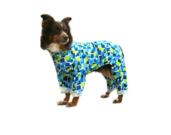 Dog Pajamas, custom dog pajamas, lightweight dog pajamas, jersey dog pajamas, pajamas for your dog