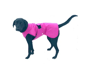 Ultra Dog Raincoat, dog coat, custom dog coat, ultrex dog coat with tummy panel for your dog, waterproof dog coat