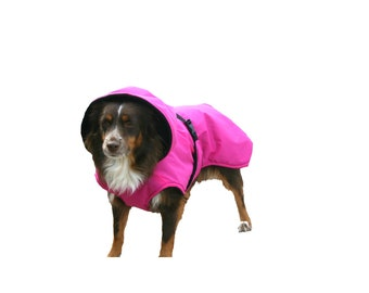 Winter Dog Coat, Hooded Dog Coat, dog coat, custom dog coat with tummy panel, waterproof dog coat
