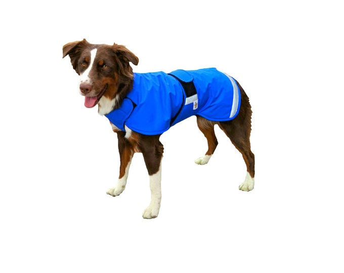 Featured listing image: Ultra Winter Dog Coat with tummy panel and reflective strips for safety, custom dog coat with tummy panel for your dog, waterproof dog coat