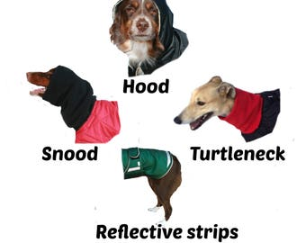 Deluxe, Reflective strips plus one feature for your custom made dog coat