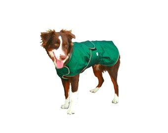 Extreme Winter Dog Coat, tough dog coat, custom dog coat, diamond ripstop dog coat with tummy panel for your dog