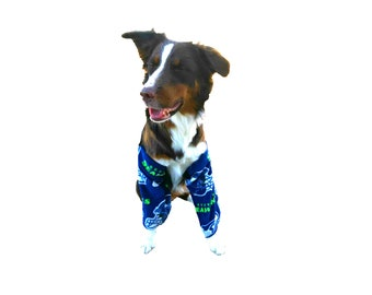 Dog fleece leg protectors, slobber leggings, fleece leggings