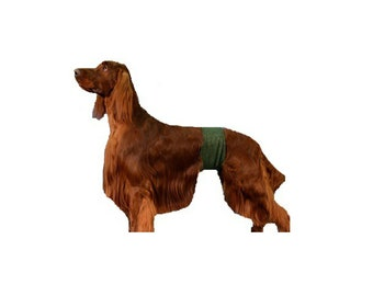 Dog Belly Band, canine diaper, dog cummerbund, weenie wrap, flannel dog belly band with Tapered Design