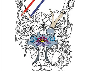 Free Buck And Doe Coloring Pages, Download Free Clip Art, Free ... | 270x340
