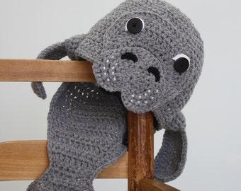 Manatee Hat, Crochet Beanie, Fish Hat, Manatee, Men, Women, Boys, Girls, Holiday Gift, Halloween Costume, Children's Clothing, Baby, Winter