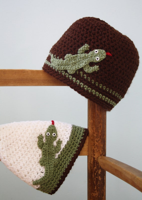 Hagedis Hat Salamander Gecko Gehaakte Muts Jongens Etsy