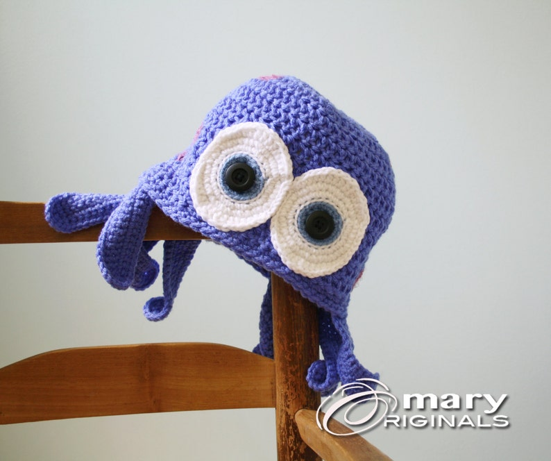 e09df3a9433 Octopus Hat Squid Hat Jellyfish Hat Crochet Beanie Funny