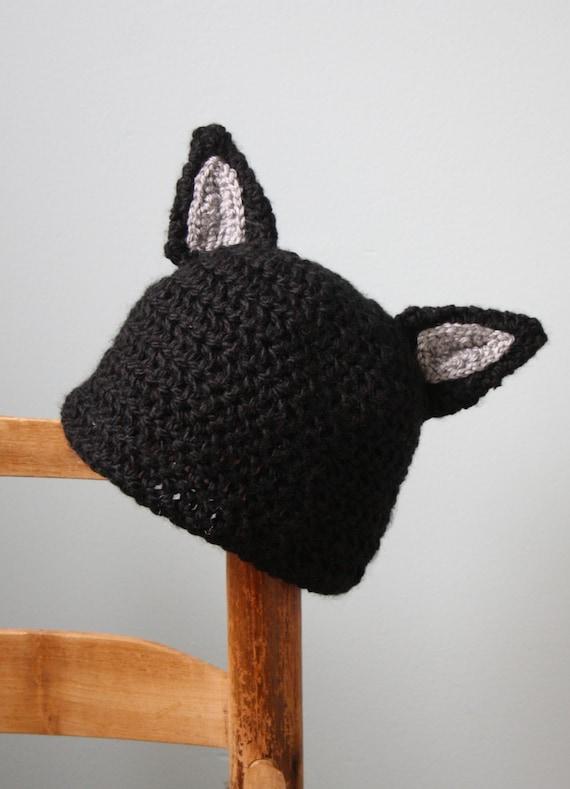 Chapeau de chat Kitty chat chapeau bonnet Animal floue   Etsy 727795a5e43