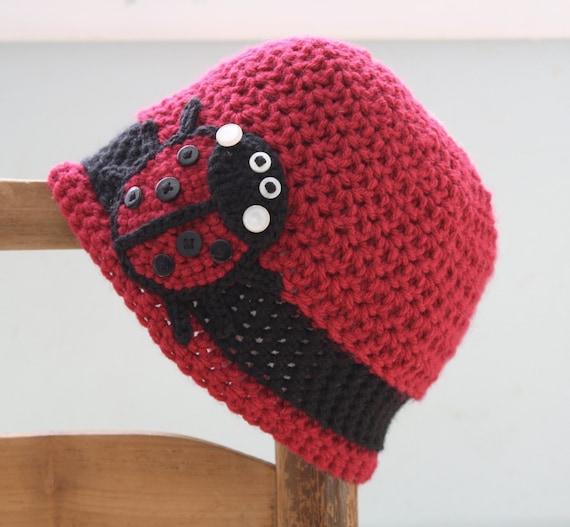 Marienkäfer Hut Bug Hut Mütze Häkeln Rote Wintermütze Etsy