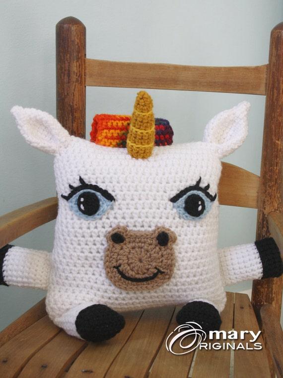 Kissen Einhorn Unicorn Stofftier Häkeln Kissen Crochet Toy Etsy