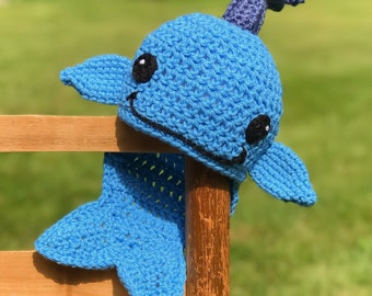 Whale Hat, Crochet Beanie, Fish Hat, Men, Women, Boys, Girls, Holiday Gift, Halloween Costume, Children's Clothing, Baby Shower Gift, Funny