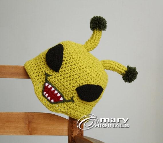 Alien Hut grüne Alien Hut Monster Hut gehäkelte Mütze