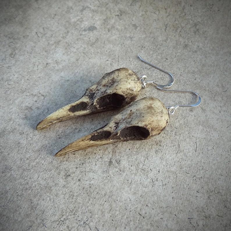 Halloween Raven Skull Earrings Super-Mini 1.5 Size  image 0