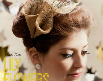 DIY Hat Kit! Make your own Sinamay Lily Flower Fascinator- Includes detailed instructions and materials 30+ colours!