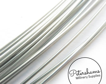 9391a478a978e Sprung Silver Millinery Wire for Brims   Hat Making 0.9mm -1m