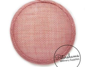 Pale Peach 13.5cm Round Sinamay Fascinator Hat Base for Millinery /& Hat Making