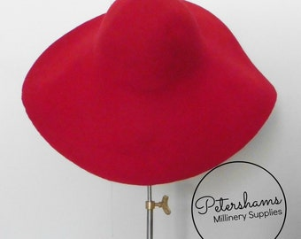 100% Wool Felt Capeline Hat Body for Millinery   Hat Making - Red Capeline 0c1cd9109627