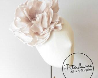 Silk  Lucinda  Extra Large 20cm Rose Millinery Fascinator Flower Hat Mount  - Soft Blush b210dd6f225