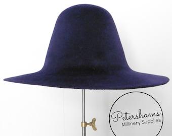 43f4269f730 Velour Peachbloom Fur Felt Flare Hat Body for Millinery - Midnight Purple