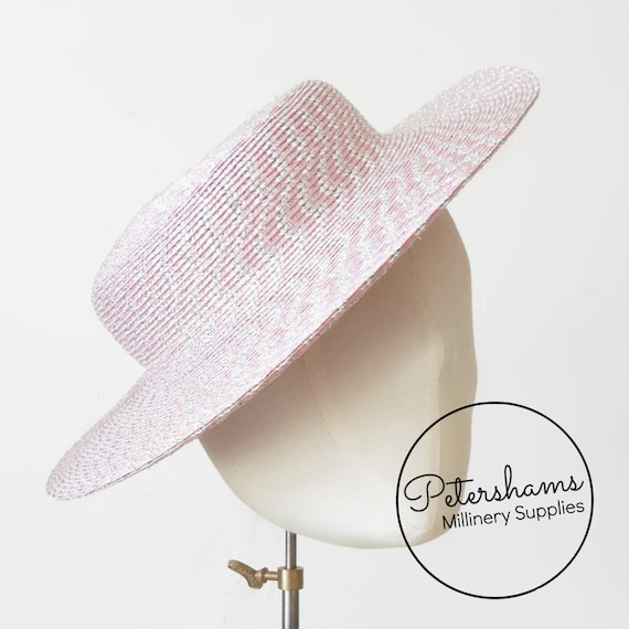 "Veiling 45cm // 18/"" plain Price per 1m - White Millinery Hats Fascinators"