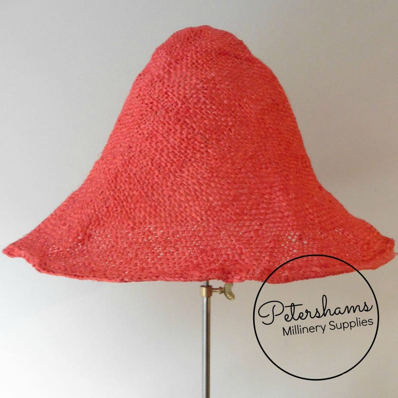 f39c5ccbfc1 Stiffened Jute Capeline Hat Body for Hat Making Millinery