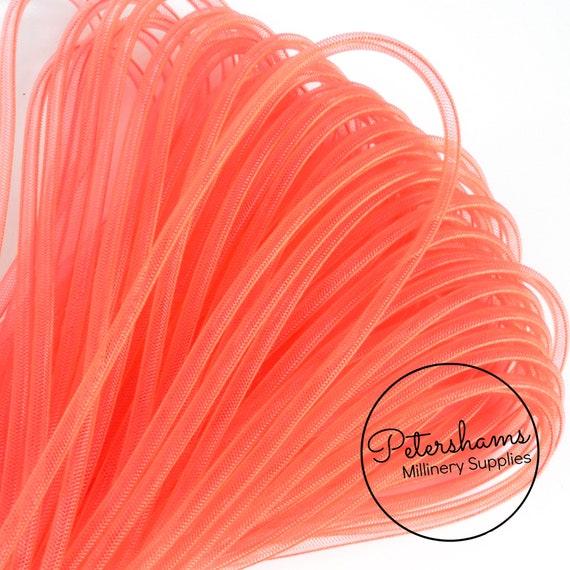 """8 cm Coral Pink Horsehair Braid Crinoline Trim 6 yards Piece  3/"""""""