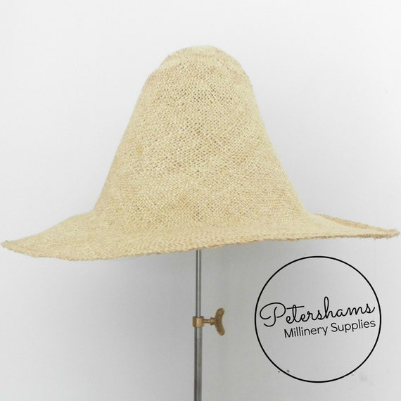 945512b9a48 Fine Weave Natural Twisted Jute Capeline Hat Body for