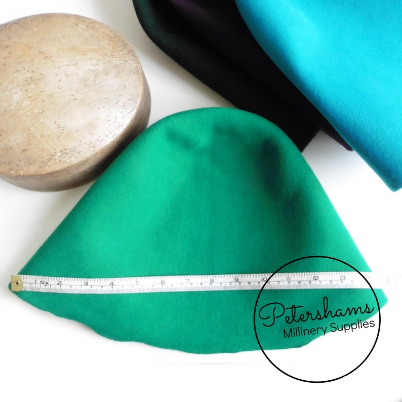 Red 100/% Wool Felt Cone Hood Hat Body for Millinery /& Hat Making