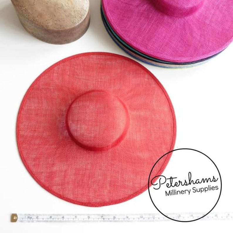 Cartwheel Sinamay Fascinator Hat Base for Millinery /& Hat Making Light Blue