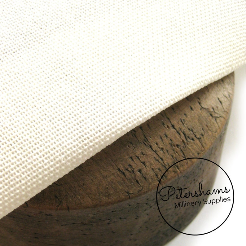 Double Sided, Double Stiffened Buckram (1/2 metre) Millinery Blocking  Fabric for Fascinators & Hat Making - White