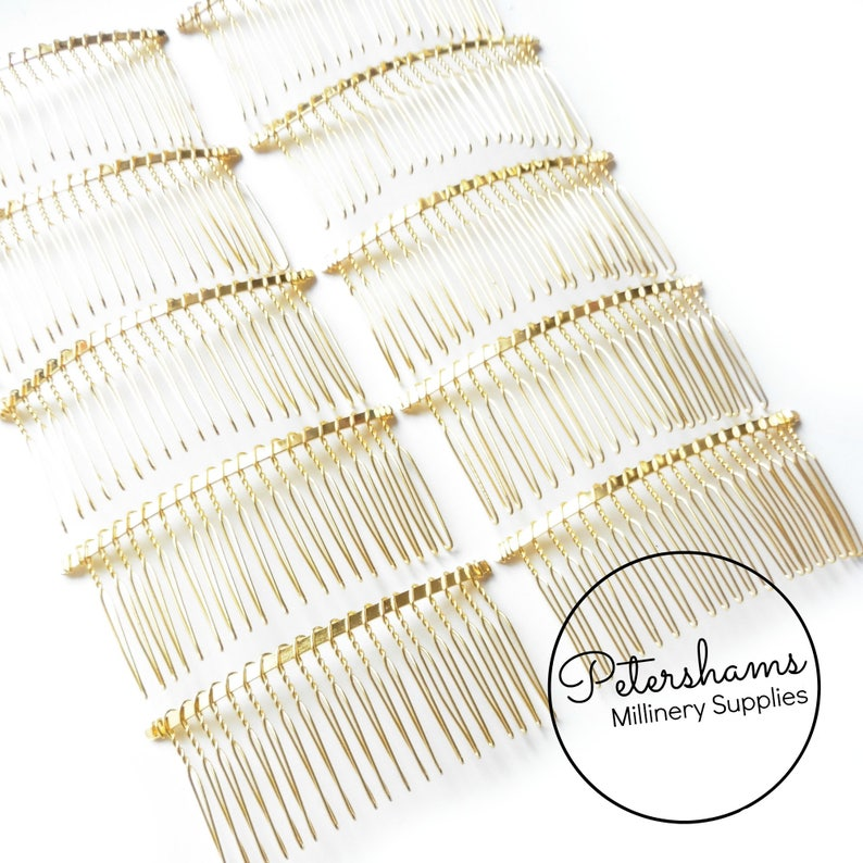 3.25 8.5cm Gold Plated Metal Hair Comb for Fascinators /& Millinery