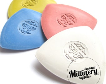 Set of 4 Butterfly Brand Tailors Chalk - White, Yellow, Red & Blue