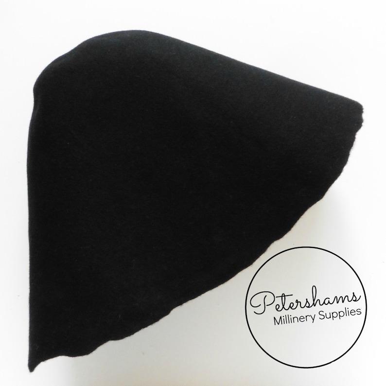 Cono de fieltro negro 100% de lana sombrero campana cuerpo  ebb75d48f64