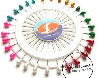 Set of 30 Vintage Inspired Long Teardrop Head Pins