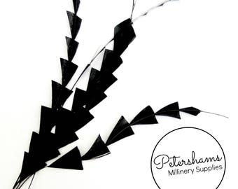 Zig Zag Coque Feather (Pack of 5) for Millinery & Fascinators - Black