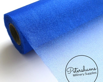 29cm (11.4 Inch) Wide Shimmer Organza Fabric for Millinery & Crafts 1 Metre - Royal Blue
