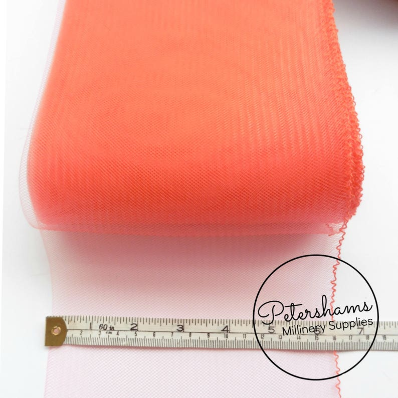 Coral 15cm for Hats Wide Crinoline Crin, Horsehair Braid 6 inch and Fascinators Millinery