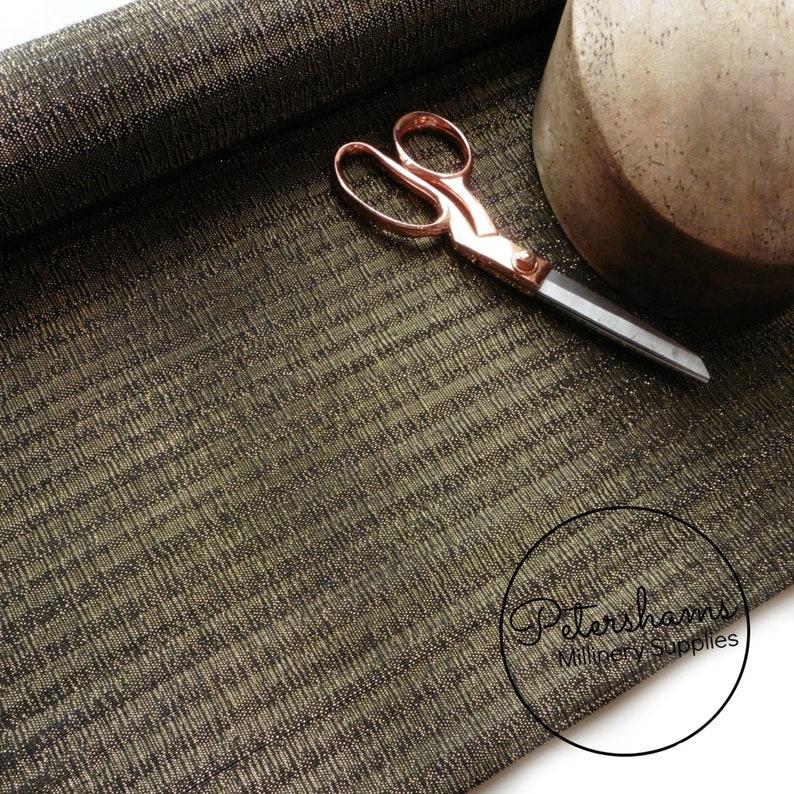 Fabric Plum with Gold Lurex Gold Lurex Threaded Striped Buntal 12m Jinsin
