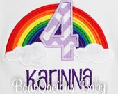 Rainbow Birthday Shirts Girls Cute Age Tops 1st 2nd 3rd 4th 5th 6th Tshirt Tank Or Long Sleeves Any Custom