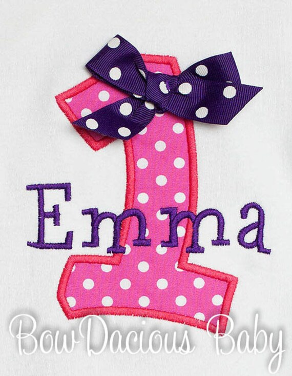 Girls First Birthday Shirt Custom Personalized Made To Your Specifications