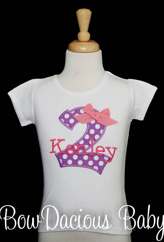 Girl Second Birthday 2nd Birthday Shirt Girl Two Shirt Girl 2nd Birthday Shirt Custom 2nd Birthday Shirt 2nd Birthday Shirt ANY AGE