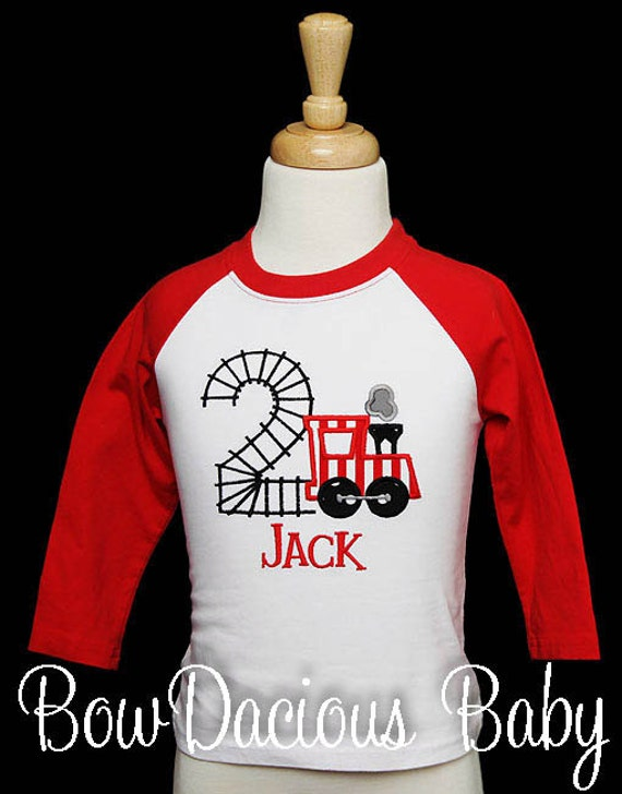 Train Birthday Shirt Number 2 Use Any T Party Boys Or Bodysuit Custom Raglan