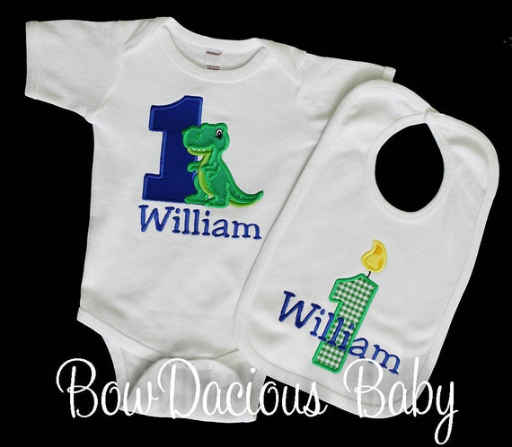 Dinosaur Outfit First Birthday Dinosaurs T Rex 1st Custom ANY COLORS