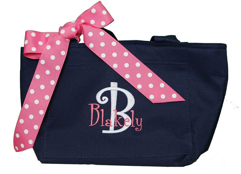 d2ae40dcbe1a Monogram Lunchbox, Monogram Lunch Bag, Personalized Cooler Tote, Custom  Monogram Lunch, Personalized Lunch box, Embroidered Lunch bag