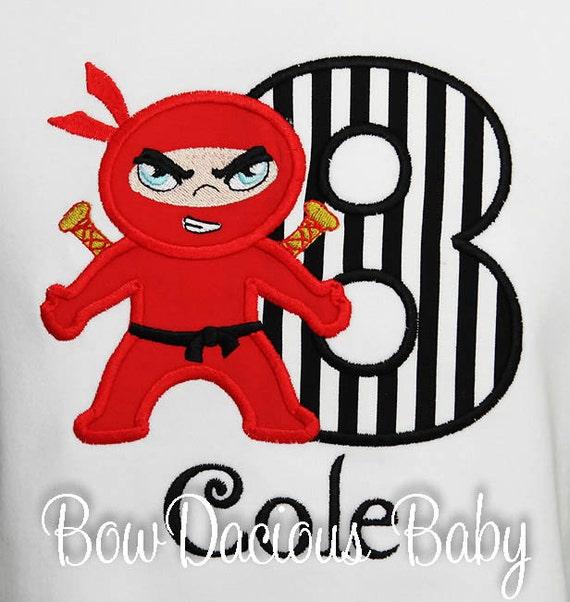 84eee919bb7e8 Boys Ninja Birthday Shirt, Karate Birthday Shirt, Boys' Birthday ...