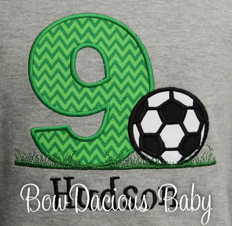 7ce8189651d Boys' Soccer Birthday Shirt Birthday Soccer Shirt Boys   Etsy